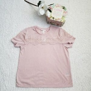 H&M Dusty Rose Lace Top